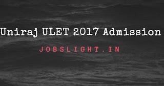 Uniraj ULET 2017 Admission