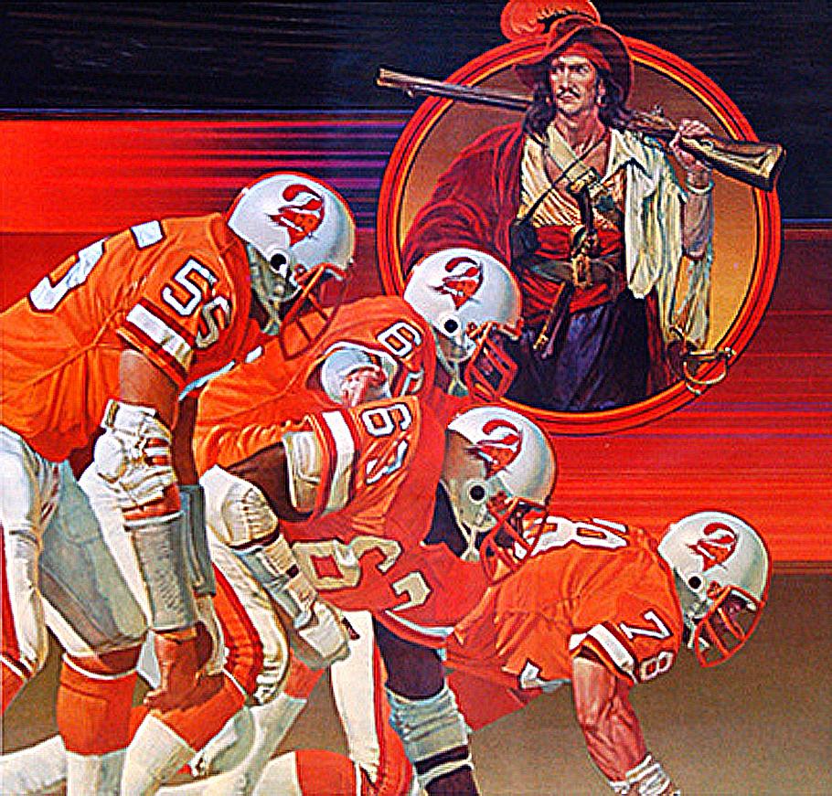 0a9e0c4c5 Pro Football Journal Presents  NFL Art  Tampa Bay Buccaneers Defense ...