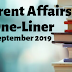 Current Affairs One-Liner: 21st September 2019