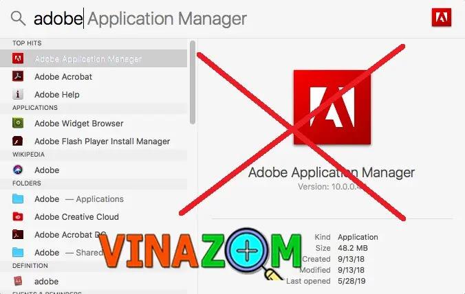 gỡ cài đặt tận gốc Adobe Application Manager