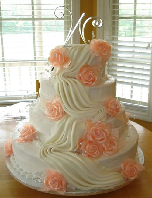 peach colored wedding cakes happier moments the summer color 18137