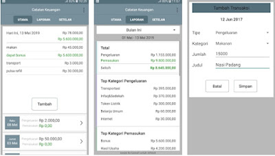 Aplikasi pengatur keuangan berbahasa indonesia