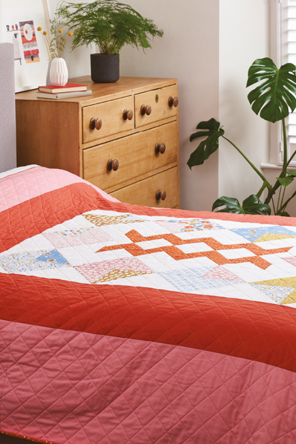 Harvest Falls Quilt - featured in Love Patchwork & Quilting Magazine | Q3 Finish-a-Long 2019 | Shannon Fraser Designs #shannonfraserdesigns #quilts #modernquilts