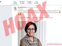 Hoax, Sri Mulyani Ditolak Kedatangannya Ke Gontor dengan Membawa Cek Bernilai Besar