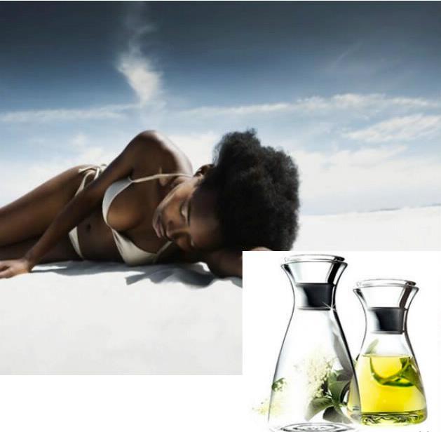 Aceite para pelo afro