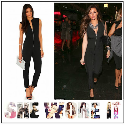 Black, Exposed Zip, Jessica Wright, Jumpsuit, Missguided, Short Sleeve, Tailored, The Only Way Is Essex, TOWIE,