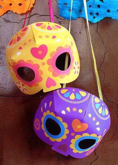 Idea to make mask from paper for kids