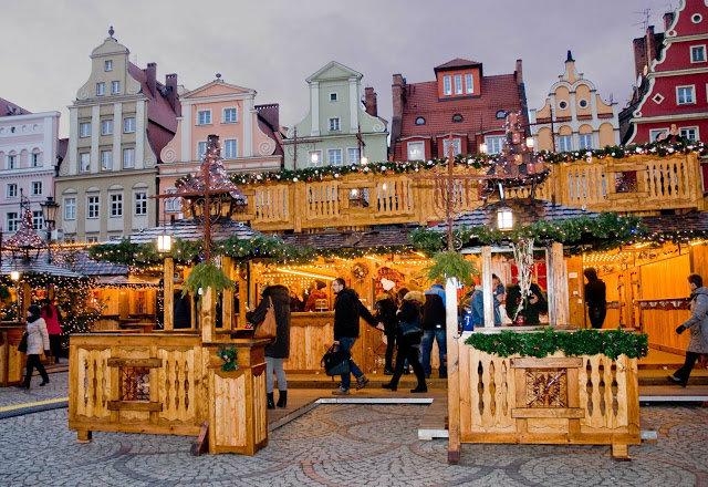 Rynek we Wrocławiu Jarmark Bożonarodzeniowy