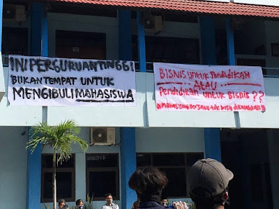 Aksi Aliansi Mahasiswa (Foto: Twitter)
