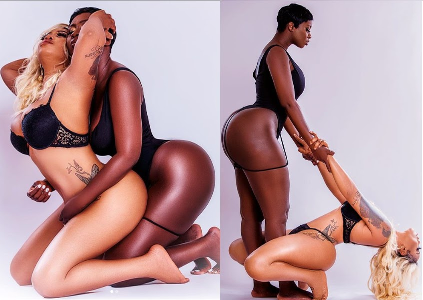 Photos: Toyin Lawani Releases More Raunchy Photos With Curvy Actress Princess Shyngle