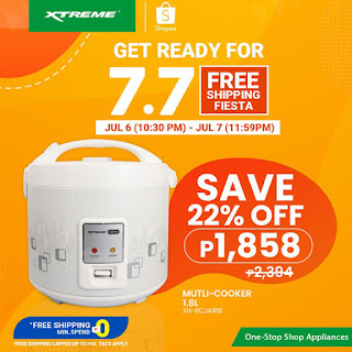XTREME appliances, 7.7 Shopee Free Shipping Fiesta, Jar-type Multi-Cooker