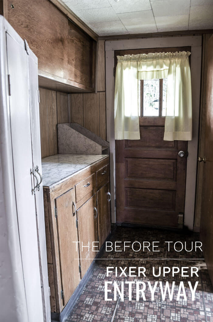 Fixer Upper Entryway Before Tour