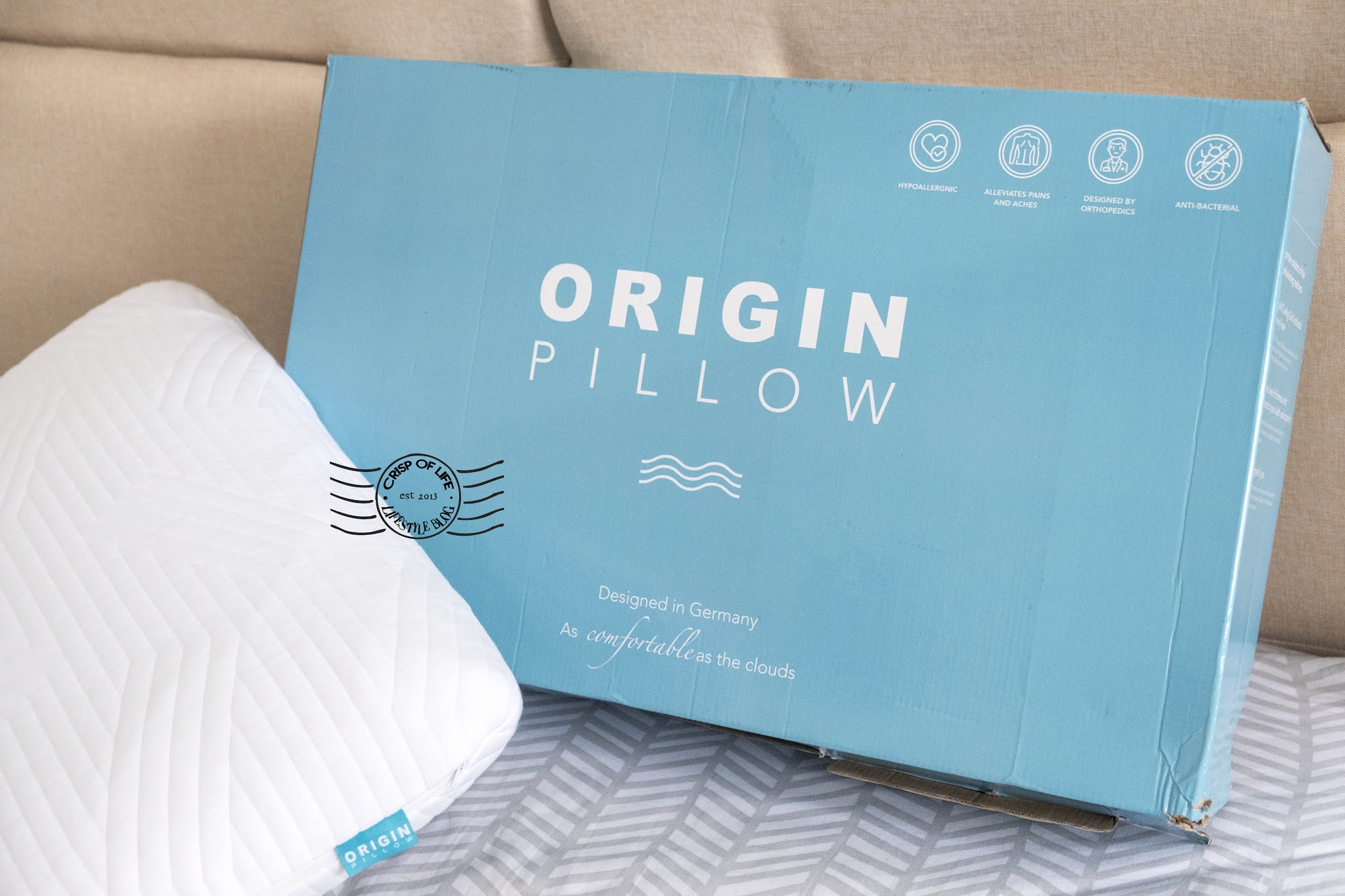 Improved Sleep with Origin Superior Coolmax® Latex Pillow