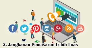 Jangkauan Pemasaran Lebih Luas  merupakan salah satu kelebihan dan keuntungan bisnis online