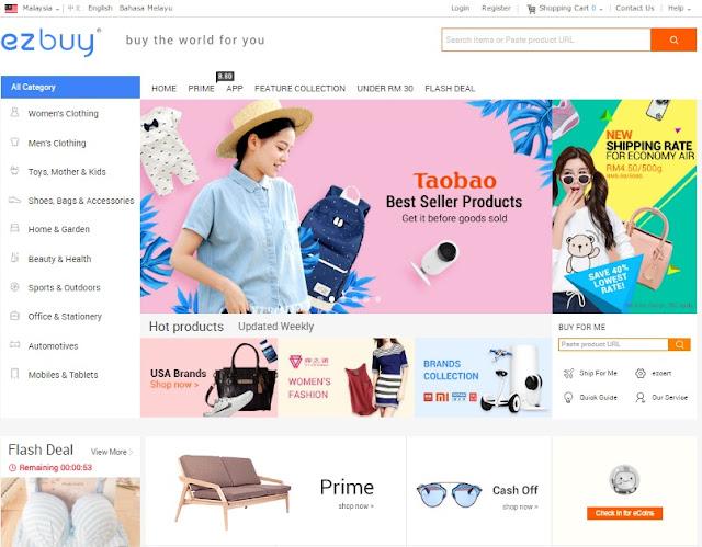 laman web shopping online ezbuy
