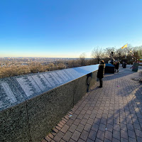 9/11 memorial wall at Eagle Rock Reservation