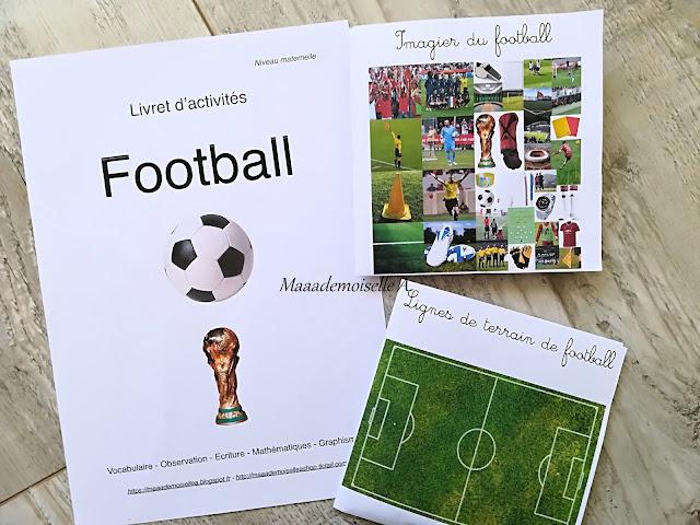 Livret d'activités, cartes de nomenclature football - Maaademoiselle A. Shop