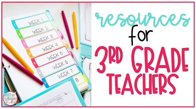 Resources to help a third grade teachers with teaching math, reading, writing and grammar.