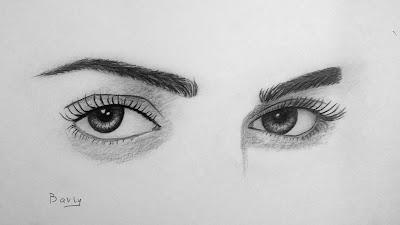 صور رسم عيون