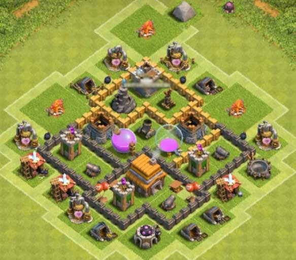 Base COC TH5 Farming 6
