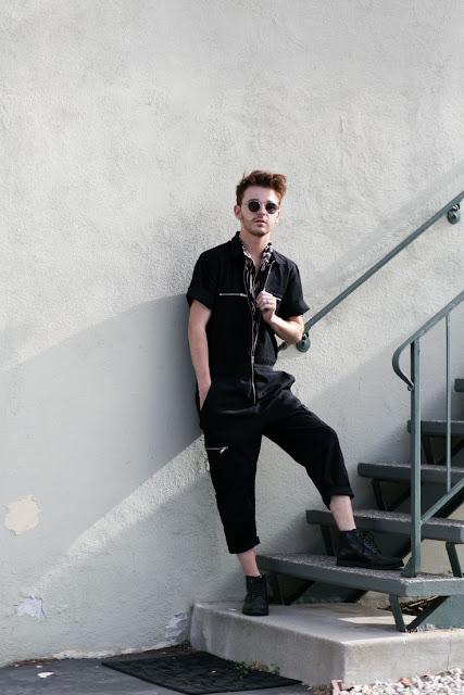 look masculino preto all black