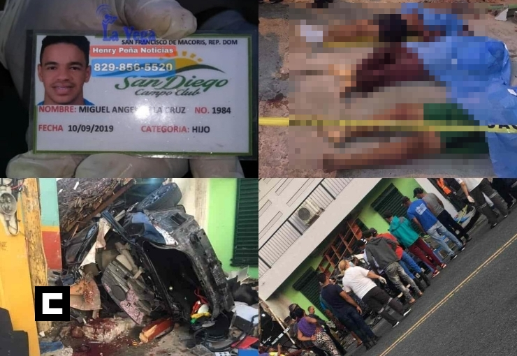 Video: Accidente deja cinco jóvenes muertos en La Vega; se presume son de SFM