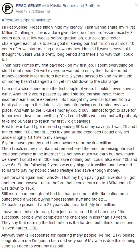 READ! This Man Shared How Hard He Saved His First Million Pesos in Just 10 Years. See How He Made It Possible Here!