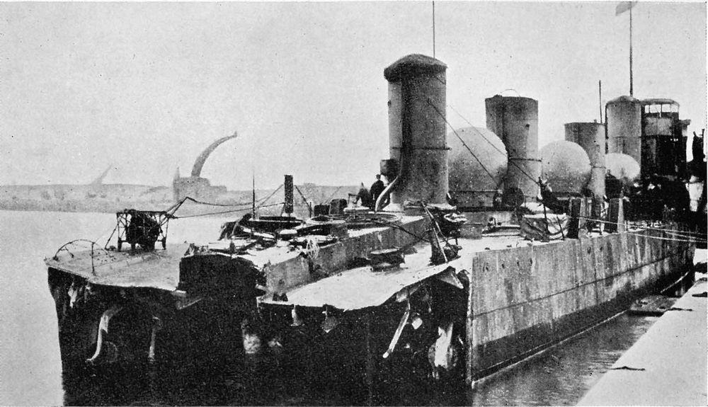 The severed stern of HMS Zulu.
