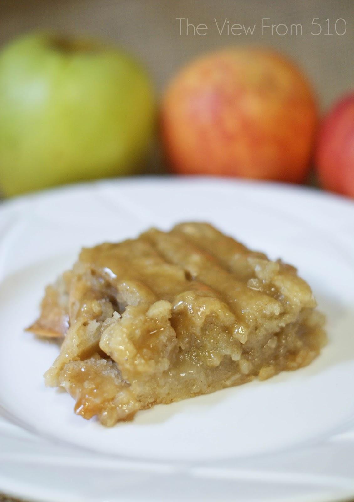 Apple Cake Glaze Brown Sugar