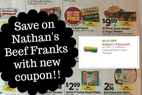 graphic relating to Nathans Printable Coupons known as Nathans Beef Incredibly hot Canine Printable Coupon + BOGO Sale at Tops