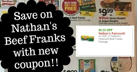 photograph about Nathans Hot Dog Printable Coupons titled Nathans Beef Warm Canine Printable Coupon + BOGO Sale at Tops