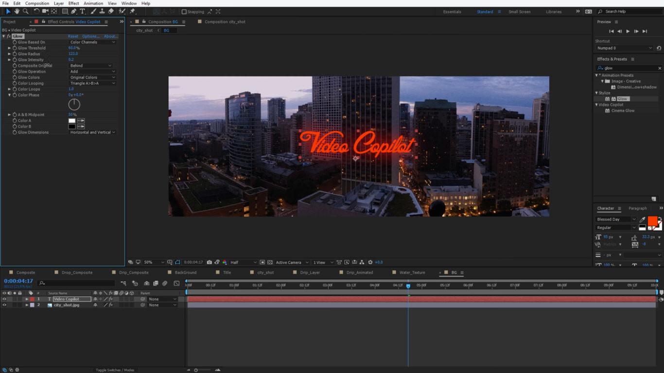 how to create a group in after effects