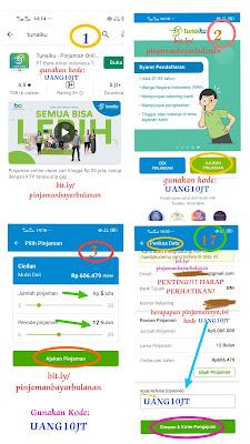 Trik pengajuan pinjaman online tunaiku dengan kode UANG10JT mudah disetujui