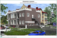 Проект нежилого здания в г. Кинешма Ивановской области. 2-й этап строительства. Архитектурные решения - Видовая точка 2
