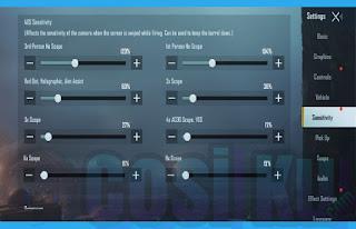 Cara Setting Sensitivitas PUBG Mobile Untuk HP Android Vivo, Xiaomi & Oppo