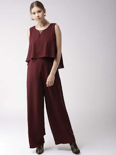 maroon-solid-layered-basic-jumpsuit