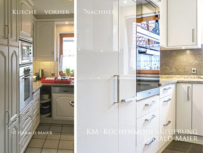 Wir renovieren Ihre Küche : Küche vorher nachher