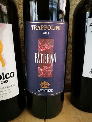 paterno vino sangiovese trappolini lazio