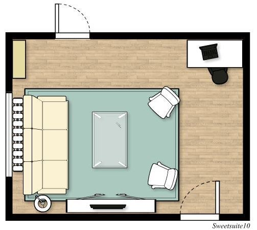Livingroom layout option 5