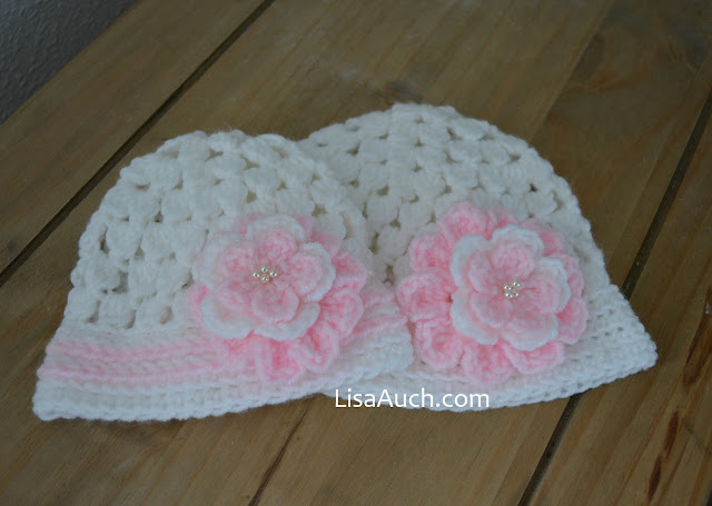 FREE crochet Pattern baby hat crochet flower free pattern
