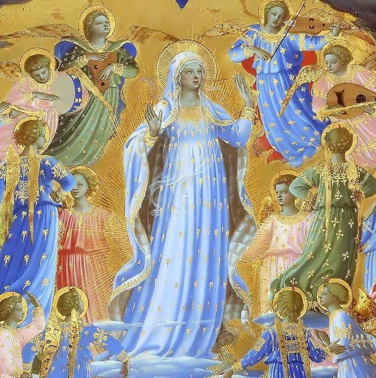 Assunção de Nossa Senhora. Beato Angélico (1395 – 1455). Google Cultural Institute