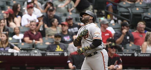 BÉISBOL: Panda Sandoval luce como el bate más caliente de su novena Gigantes de San Francisco.