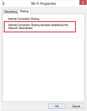 Cara Mengatasi Internet Connection Sharing has been disabled by the Network Administrator