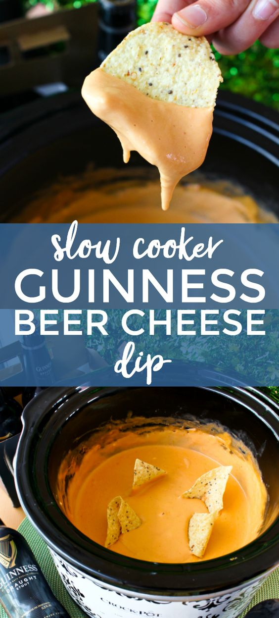 SLOW COOKER GUINNESS BEER CHEESE DIP