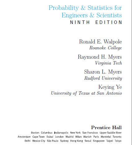 Download Probability & Statistics for Engineers & Scientists (9th Edition) - Walpole with manual solution PDF