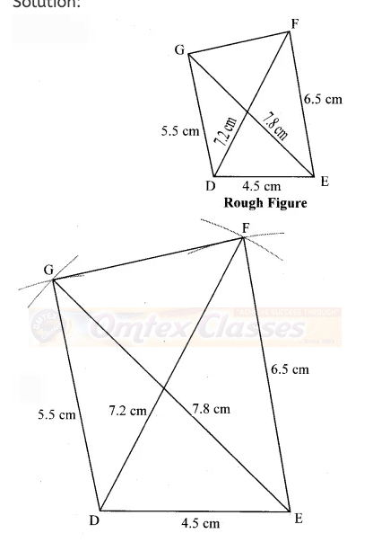Here, DEFG is the required quadrilateral.