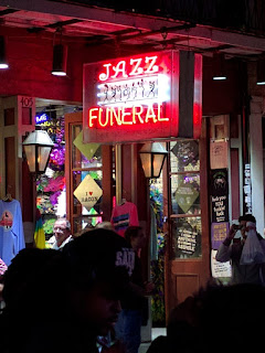 jazz funeral at night