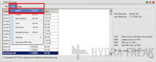 Cara mengimpor file dengan IMG Manager V1.5