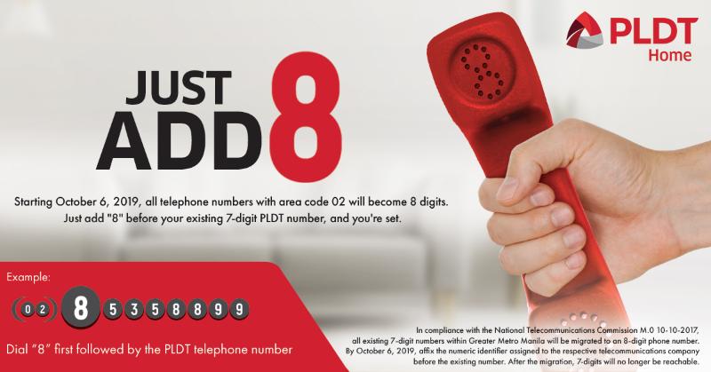 PLDT to implement 8-digit landline number starting October