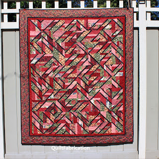 ACCENT ON ANGELS-ASIAN QUILT-RED QUILT-QUILT GIFT